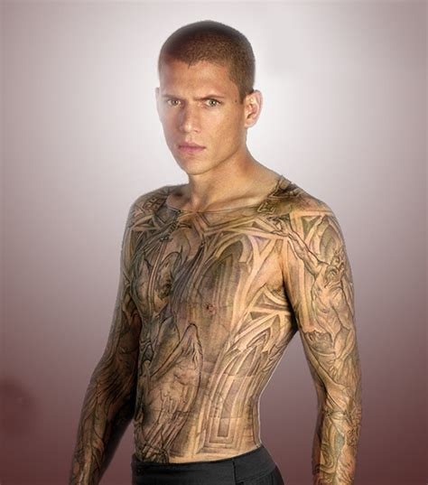 wentworth miller tattoos kristen stewart and robert pattinson 15 tribal