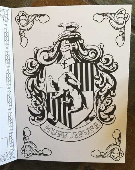 harry potter coloring pages hufflepuff harry potter postcard coloring book harry potter amino