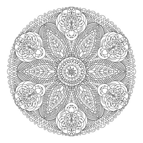 mandala flower coloring pages difficult flower mandala coloring pages coloringsuite