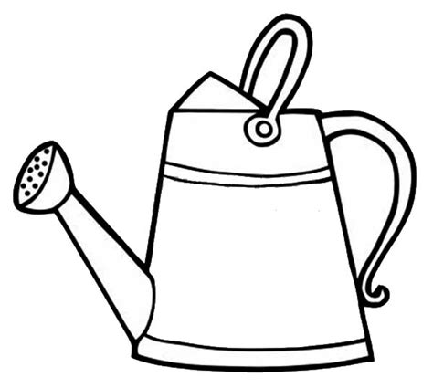 watering can with water coloring page coloring pages