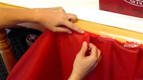How To Make A Table Cloth by Diy Inexpensive Ruffle Table Cloth For Radio Flyer