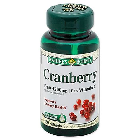 bed bath and beyond cranberry herbal harvest 100 count cranberry concentrate vitamin c