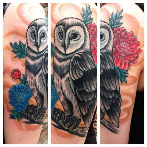 blue line tattoo la crosse wi barn owl done by nick at blue line in la crosse wi
