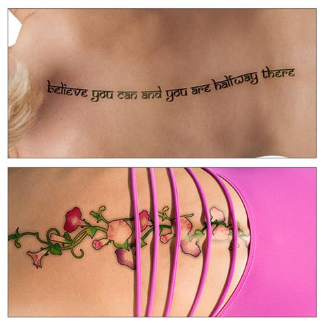tattoo quotes with vines flaunt your back awesome spine tattoo design ideas for women