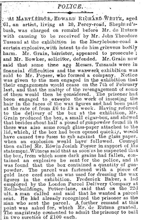 with the story with the file tussauds story the times sat july 20 1889 jpg
