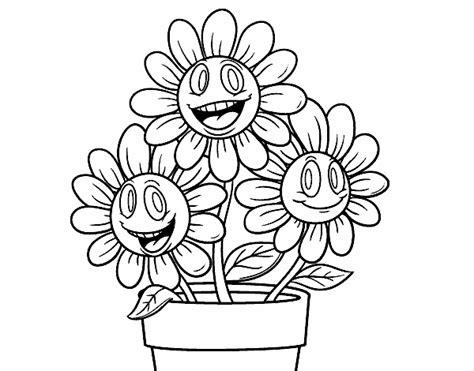 imagenes para pintar macetas imagen de maceta de flores felices margaritas para dibujar