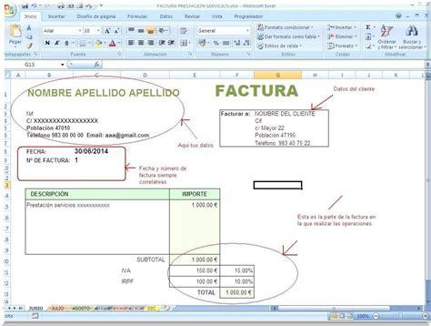 modelo recibo por prestacin de servicios con retencion libro facturas emitidas actividad empresas y profesionales