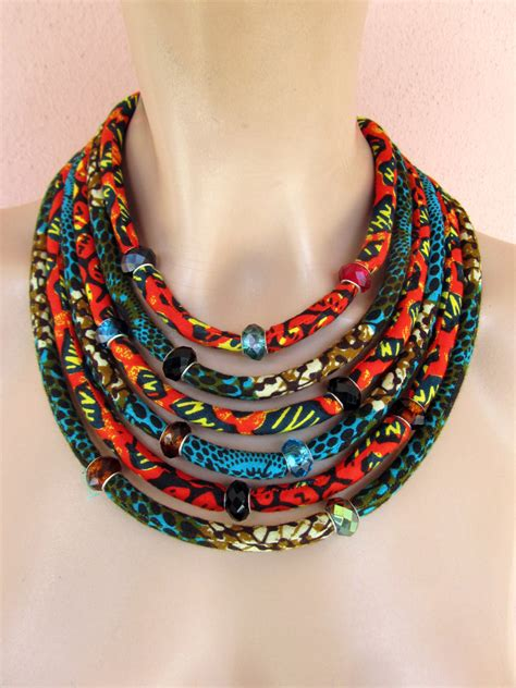 material for jewelry multi strand necklace fabric statement necklace