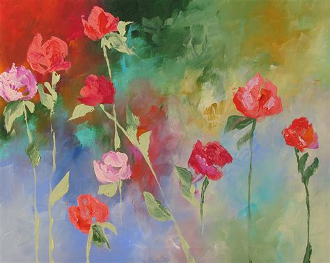 acrylic painting flowers the gallery for gt acrylic painting flowers canvas