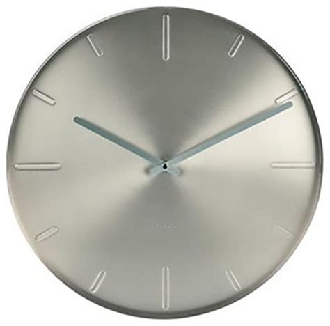 modern wall clocks melbourne karlsson belt wall clock satin nickel contemporary