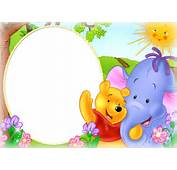 Download Cute Kids Png Photo Frame With Winnie The Pooh Hd Wallpaper