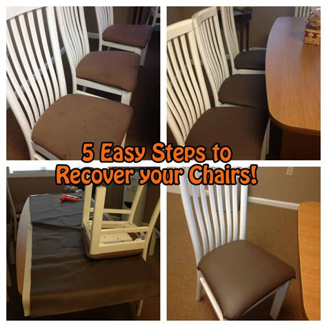 Diy Dining Room Chairs To Live In Pensacola Florida Easy Diy Dining Room Chair Recover