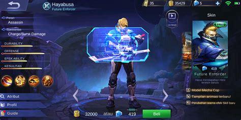 Murah Kaos Mobile Legend Hayabusa Smile 1 8 tingkatan skin di mobile legends yang membuat para pemainnya percaya diri dailysocial