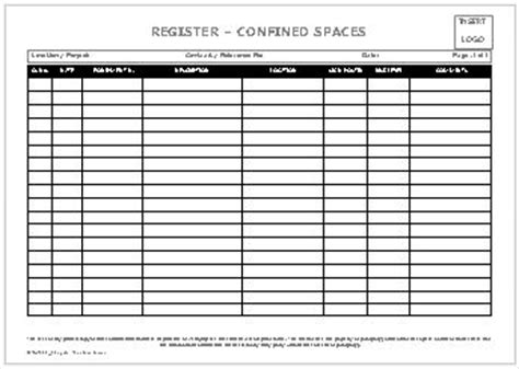 Register   Confined Spaces   AllSafety Management Services