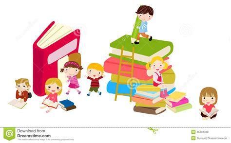 libro un nino seguro de ni 241 os y libros ilustraci 243 n del vector imagen de ni 241 o 45631469