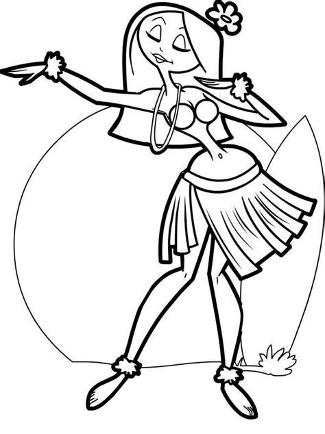 cartoon hula dancer cliparts co