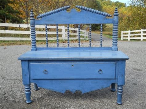 bed into bench antique cottage bed made into a bench central va