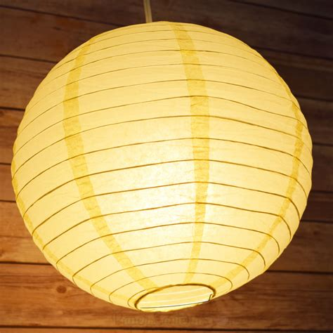 Paper Lanterns - paper lantern even ribbing hanging light not