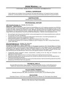 payroll manager resume berathen com exle payroll manager resume free sle