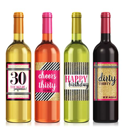 wine birthday custom birthday wine labels printing icustomlabel