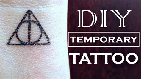 how to get a temporary tattoo diy temporary harry potter how to make a