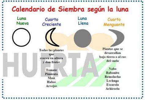 calendario lunar de siembra y trasplantes segn las fases hortelanos calendario de siembra