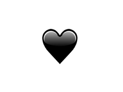 Emoji Heart Black | the new emojis coming in 2016