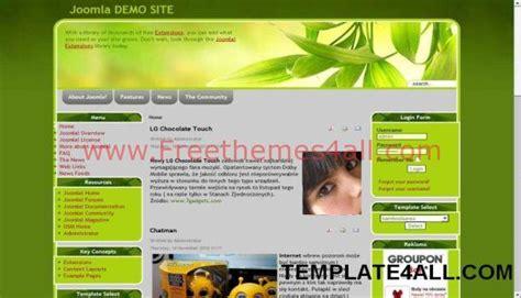 themes joomla 1 5 free green life nature joomla 1 5 template freethemes4all