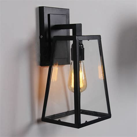 outdoor sconce light fixtures retro outdoor modern filament clear glass sconce