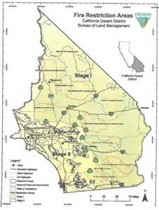 california blm maps cfires banned on southern pct pacific crest trail