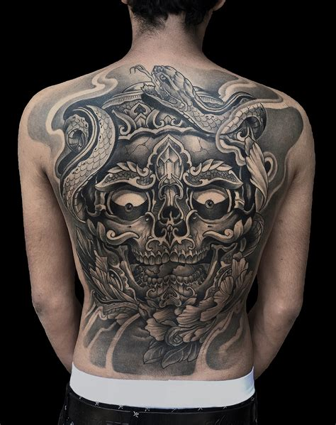 oriental tattoo studio japanese oriental full back tattoo done by mukesh