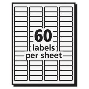 Avery 15695 Easy Peel Laser Print Mailing Labels Permanent Adhesive 2 3 Quot Width X 1 3 4 Quot Length 24 Return Address Labels Template