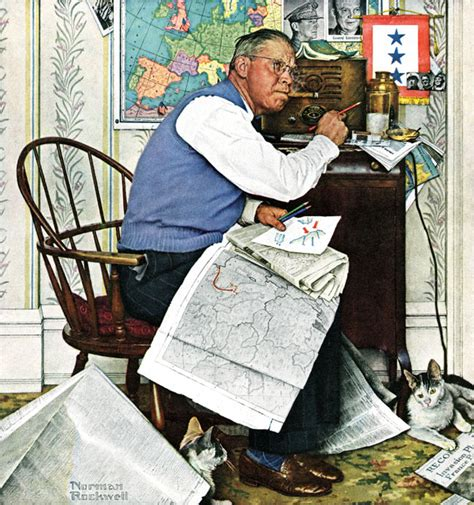 armchair general tuning in to wwii the saturday evening post