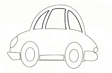 6 best images of car template printable for kids car