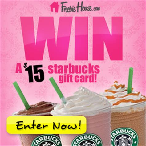 Win Free Starbucks Gift Cards - contest 15 starbucks gift card up for grabs freebie house free sles