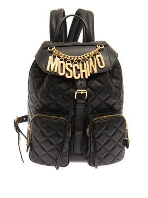 Lettering Faux Leather Backpack s bags backpacks matchesfashion