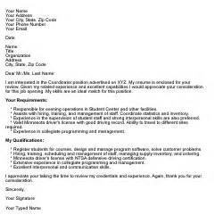 Coverleter How To Write An Application Letter Cover Letter That