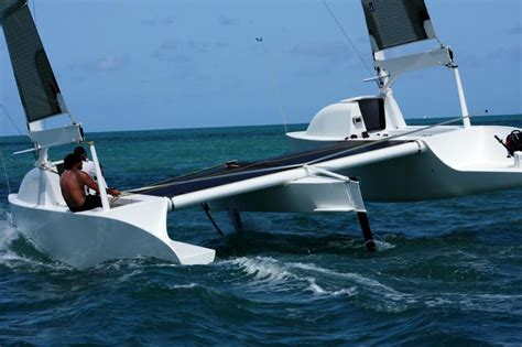 trimaran happy happy feet cata 224 foils made in thailand foilers