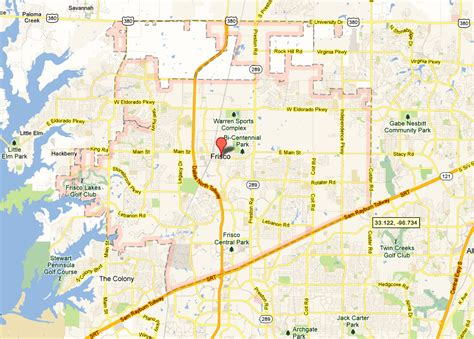 frisco texas map frisco demographics