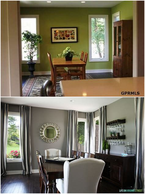 dining room makeover reveal on virginia