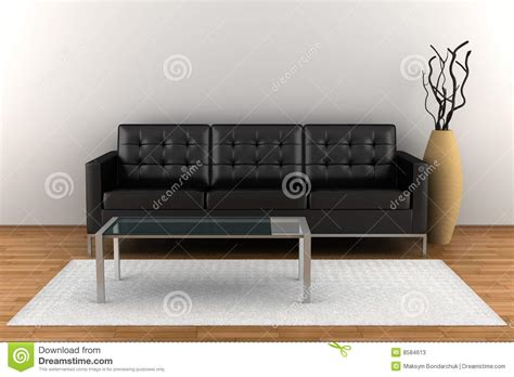 black leather and wood sofa interior with black leather sofa stock photos image 8584613
