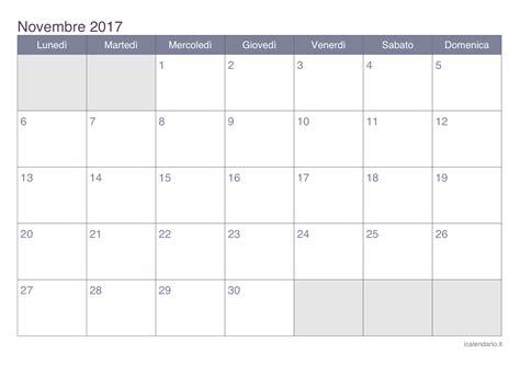 calendario novembre 2017 da stare icalendario it