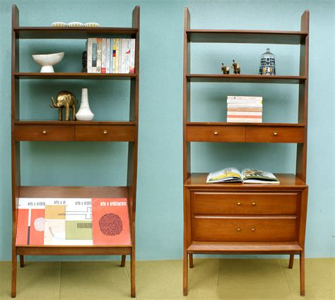 Mid Century Bookshelves Vintage Pair Of Mid Century Modern Bookcases Room Divider