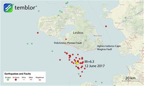 earthquake today map m 6 3 earthquake in the aegean sea near the greece turkey
