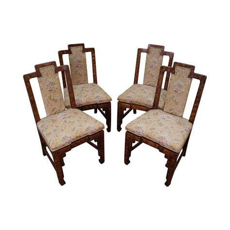 asian style james mont era dining chairs  chairish
