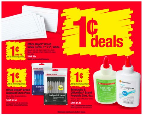 office depot coupons school supplies office depot max back to school supplies 14 items for 2