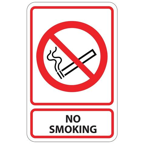 no smoking sign iq rectangular plastic no smoking sign pse 0020 the home depot