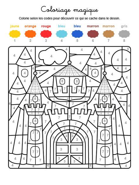 Marron Grillé by Coloriage Magique En Fran 231 Ais Un Castillo