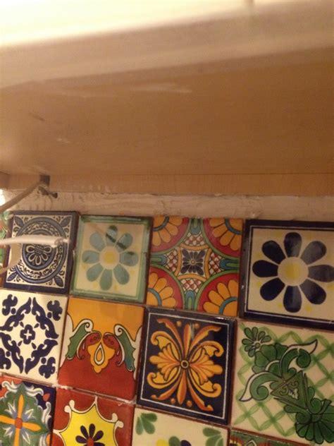 Eclectic Mixed Talavera Tile Backsplash.