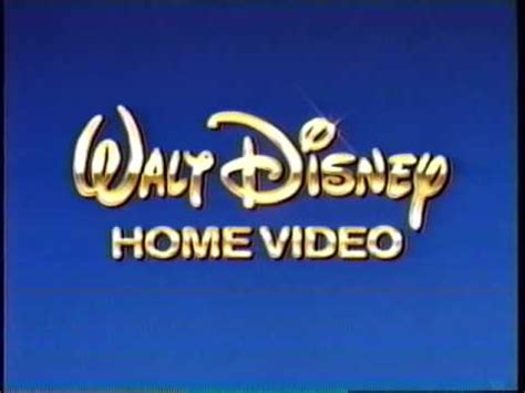 1986 walt disney home video logo aka youtube walt disney home video 1995 company logo vhs capture